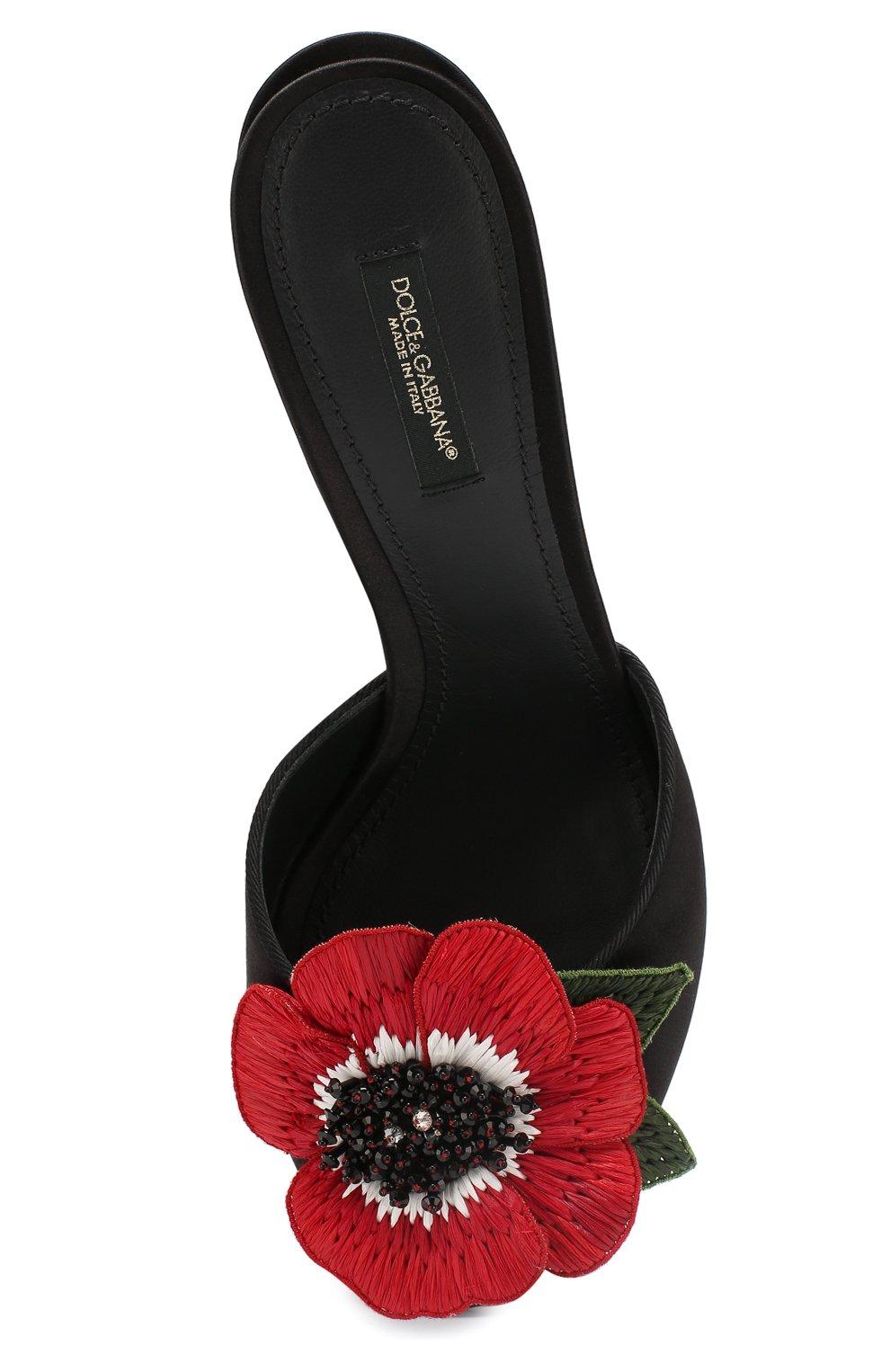 Мюли с аппликациями Dolce & Gabbana черные | Фото №5