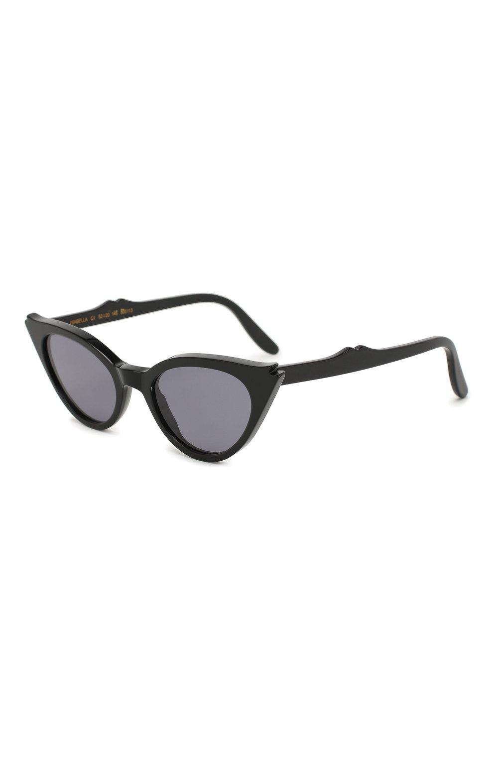 Женские солнцезащитные очки ILLESTEVA черного цвета, арт. ISABELLA BLACK/GREY   Фото 1