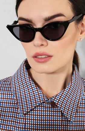 Женские солнцезащитные очки ILLESTEVA черного цвета, арт. ISABELLA BLACK/GREY   Фото 2