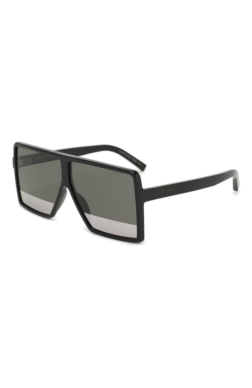 Женские солнцезащитные очки SAINT LAURENT черного цвета, арт. SL 183 BETTY S 002   Фото 1