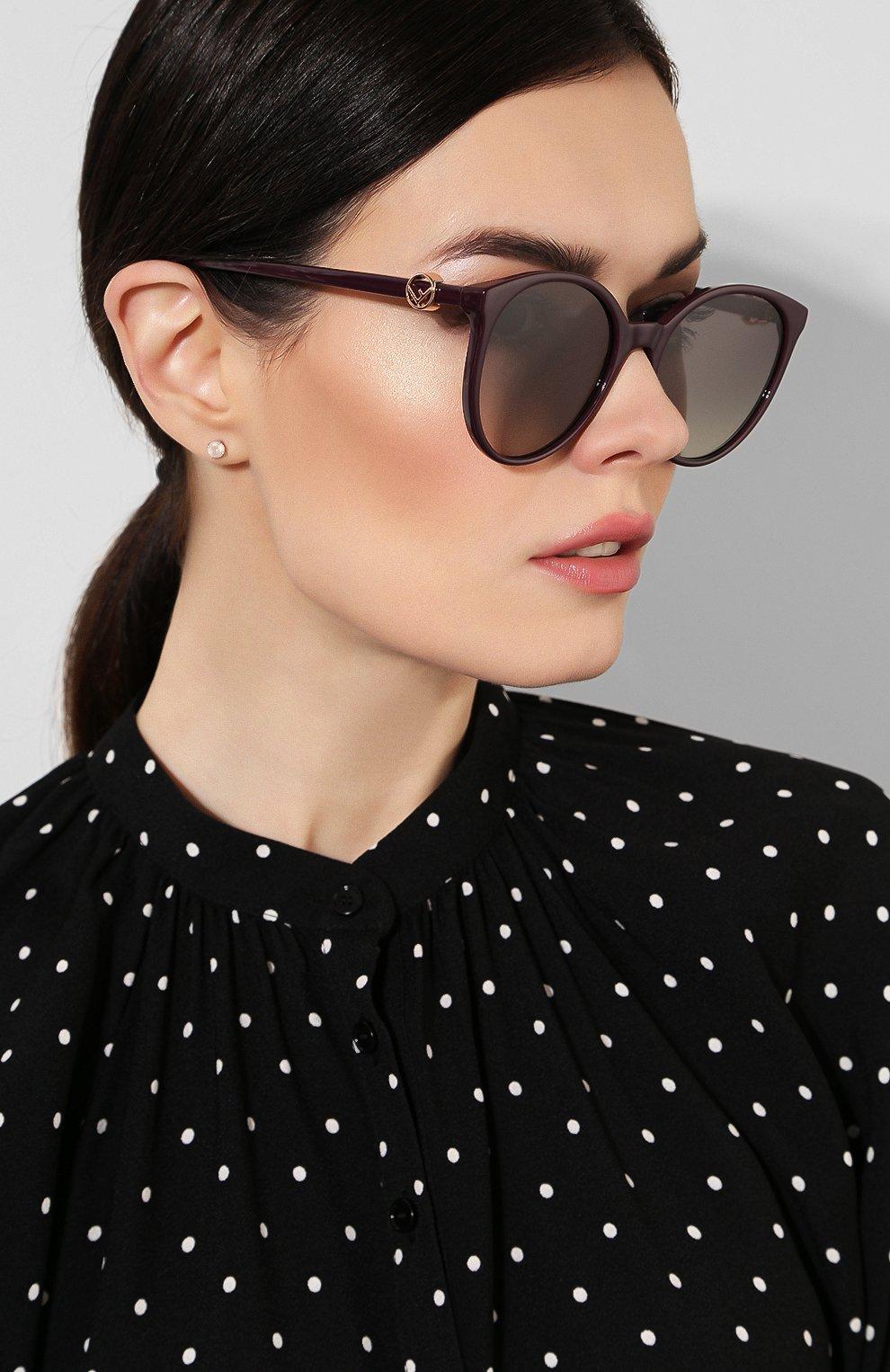 Женские солнцезащитные очки FENDI фиолетового цвета, арт. 0288 0T7   Фото 2
