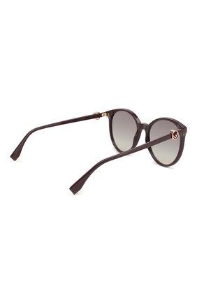 Женские солнцезащитные очки FENDI фиолетового цвета, арт. 0288 0T7   Фото 4