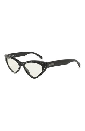 Мужские солнцезащитные очки MOSCHINO черного цвета, арт. M0S006 2M2 | Фото 1