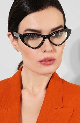 Мужские солнцезащитные очки MOSCHINO черного цвета, арт. M0S006 2M2 | Фото 2