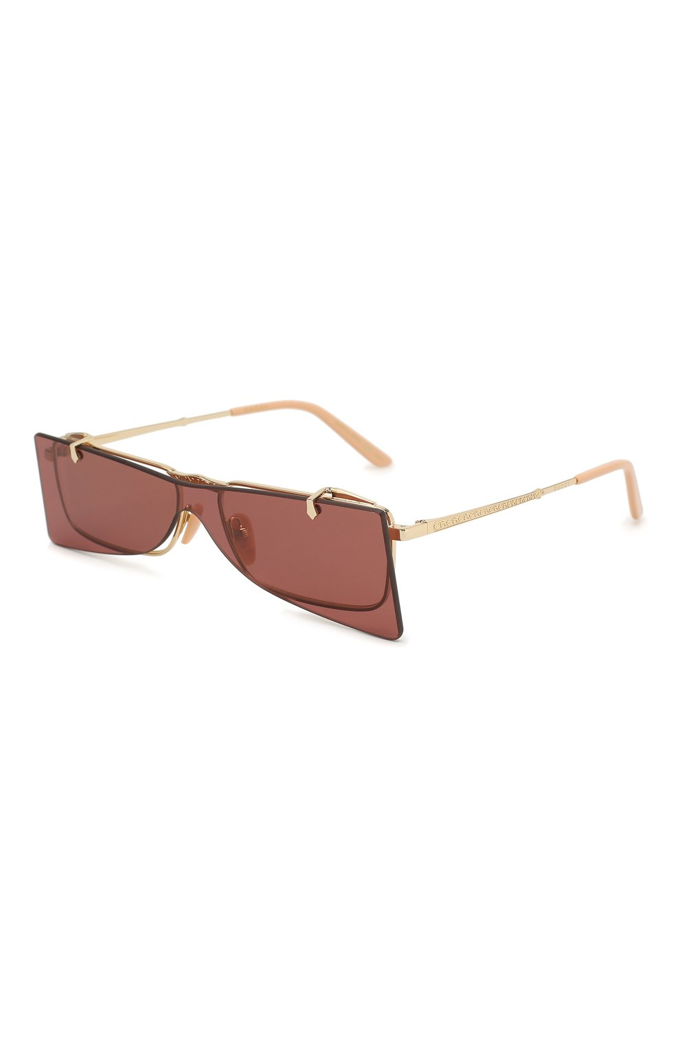 Женские солнцезащитные очки GUCCI бордового цвета, арт. GG0363 002 | Фото 1