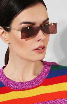 Женские солнцезащитные очки GUCCI бордового цвета, арт. GG0363 002 | Фото 2