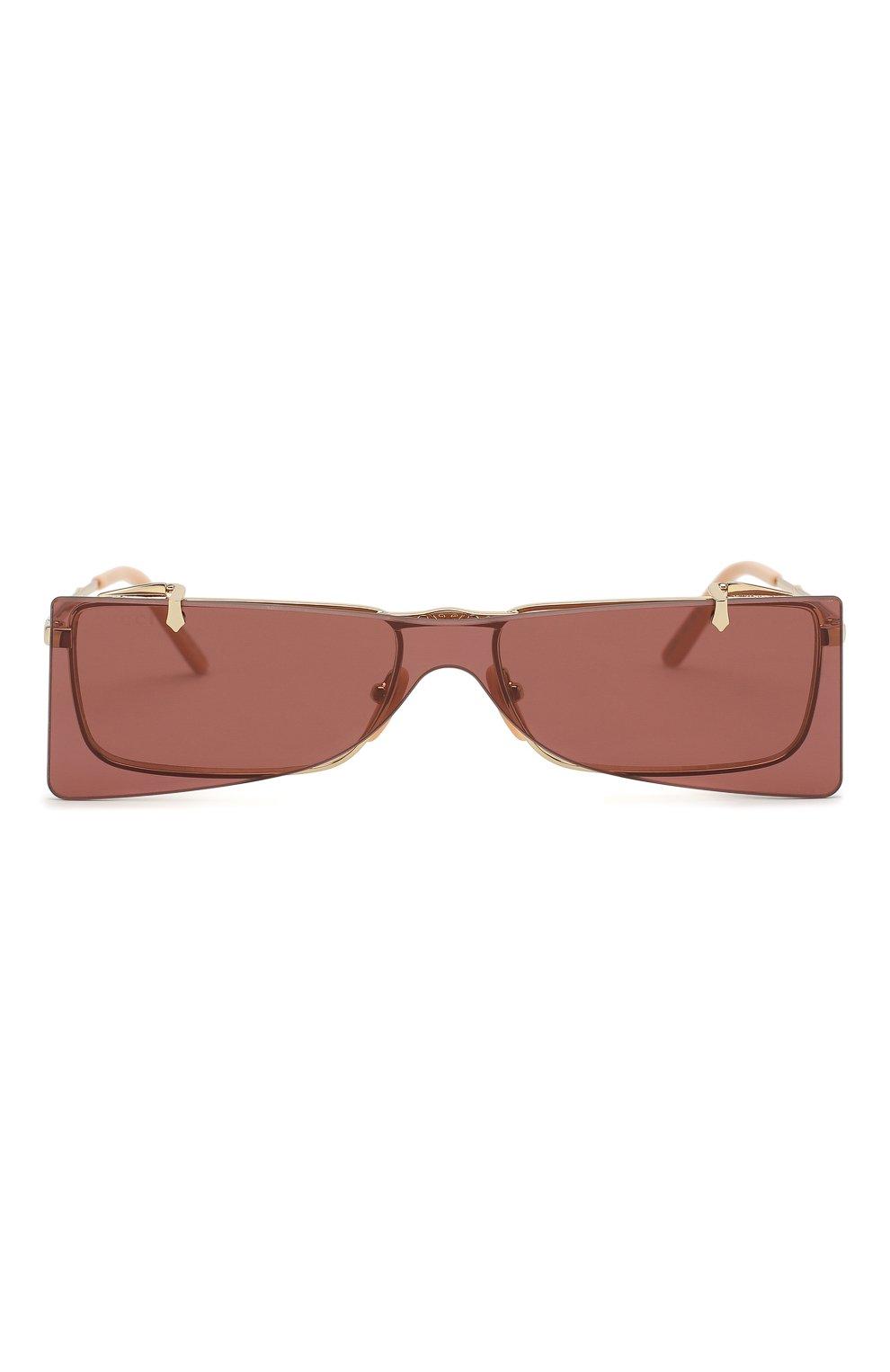 Женские солнцезащитные очки GUCCI бордового цвета, арт. GG0363 002 | Фото 3
