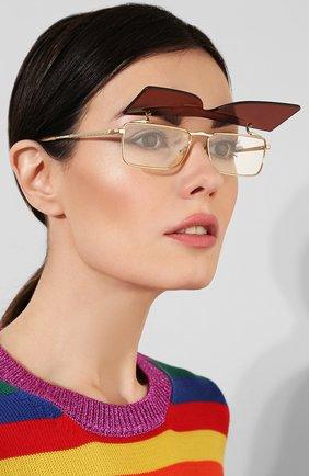 Женские солнцезащитные очки GUCCI бордового цвета, арт. GG0363 002 | Фото 5