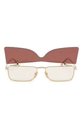 Женские солнцезащитные очки GUCCI бордового цвета, арт. GG0363 002 | Фото 6