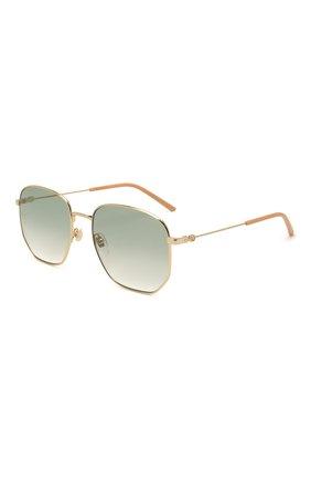 Женские солнцезащитные очки GUCCI зеленого цвета, арт. GG0396 002   Фото 1