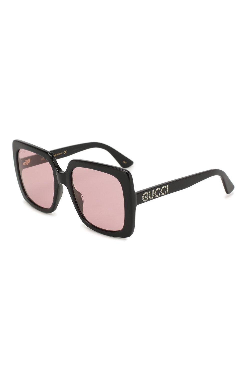 Женские солнцезащитные очки GUCCI черного цвета, арт. GG0418 002   Фото 1