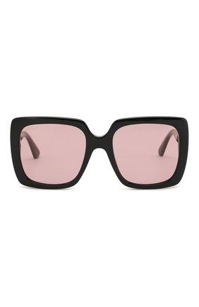 Женские солнцезащитные очки GUCCI черного цвета, арт. GG0418 002   Фото 3