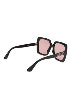 Женские солнцезащитные очки GUCCI черного цвета, арт. GG0418 002   Фото 4
