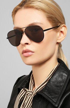 Женские солнцезащитные очки SAINT LAURENT черного цвета, арт. CLASSIC 11 ZER0 005 | Фото 2