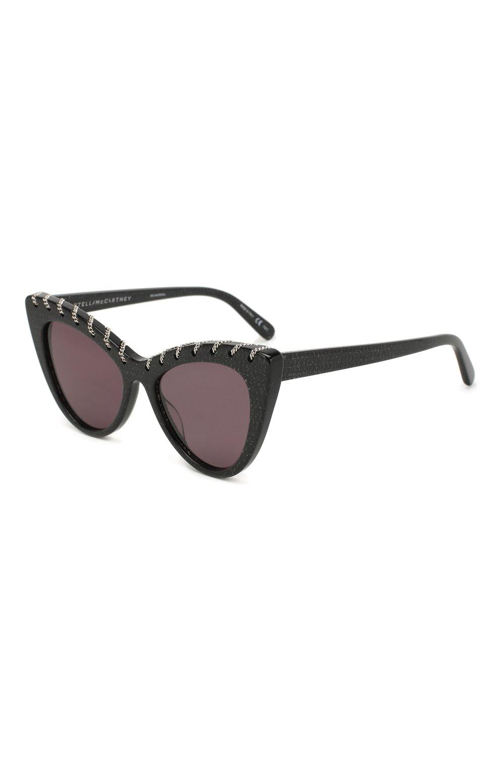 Женские солнцезащитные очки STELLA MCCARTNEY черного цвета, арт. SC0163 003   Фото 1