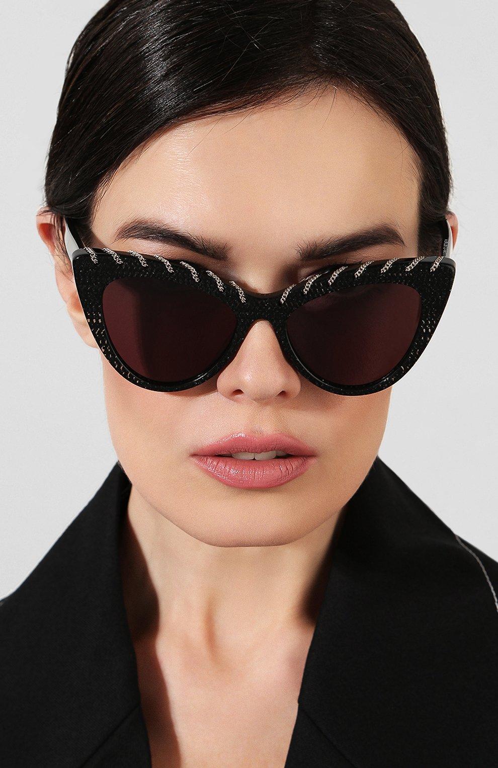 Женские солнцезащитные очки STELLA MCCARTNEY черного цвета, арт. SC0163 003   Фото 2