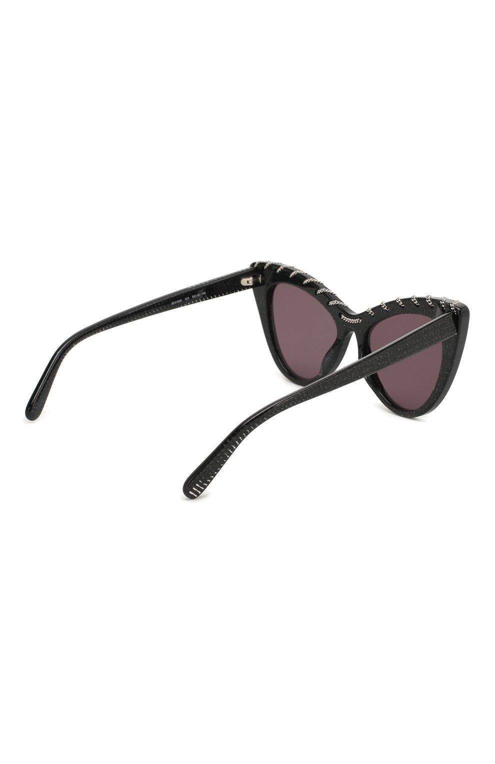 Женские солнцезащитные очки STELLA MCCARTNEY черного цвета, арт. SC0163 003   Фото 4