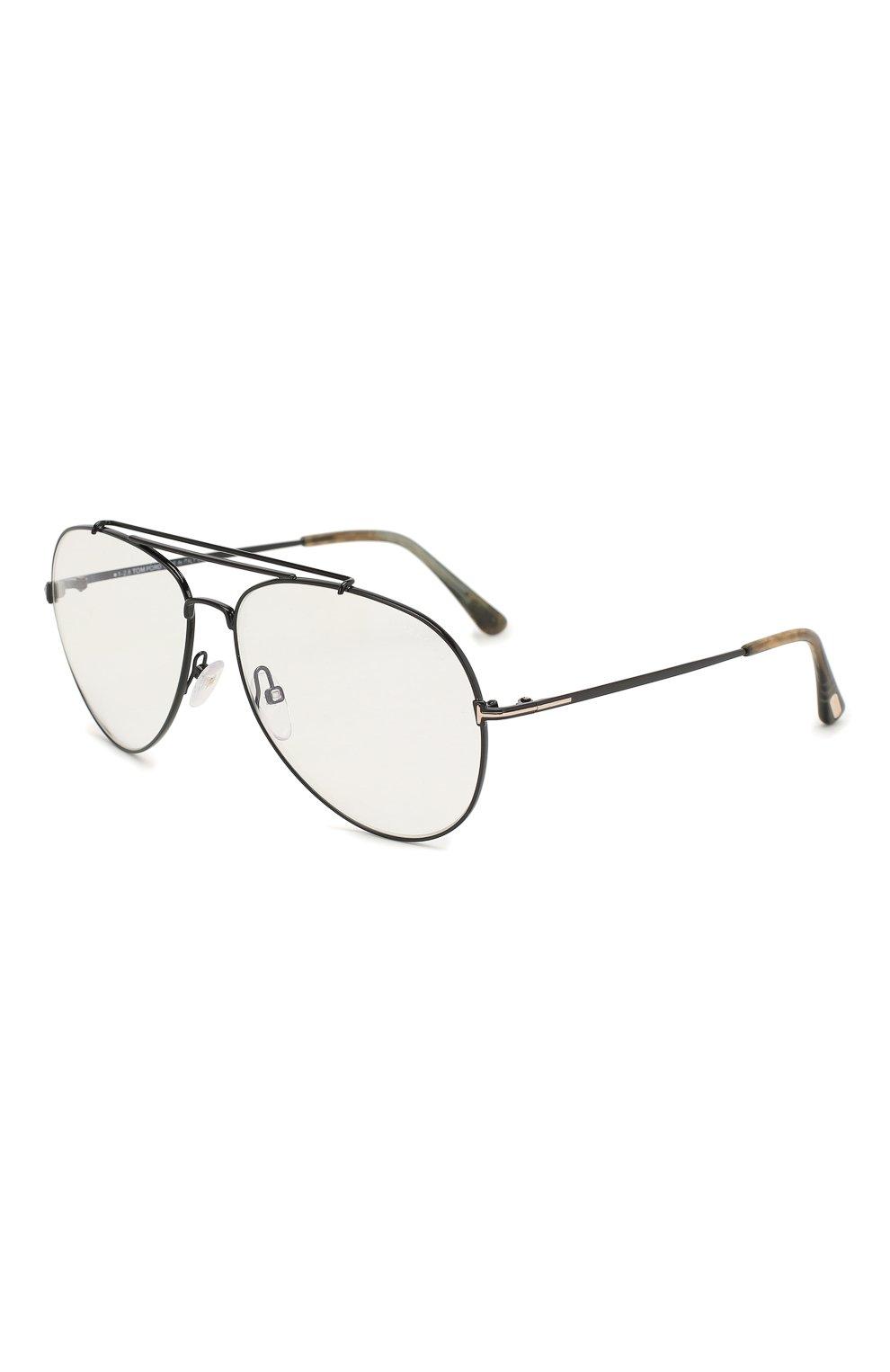 Женские солнцезащитные очки TOM FORD черного цвета, арт. TF497 001 | Фото 1