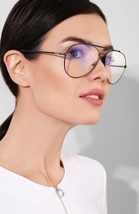 Женские солнцезащитные очки TOM FORD черного цвета, арт. TF497 001 | Фото 2