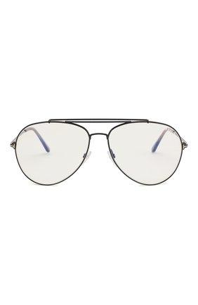 Женские солнцезащитные очки TOM FORD черного цвета, арт. TF497 001 | Фото 3