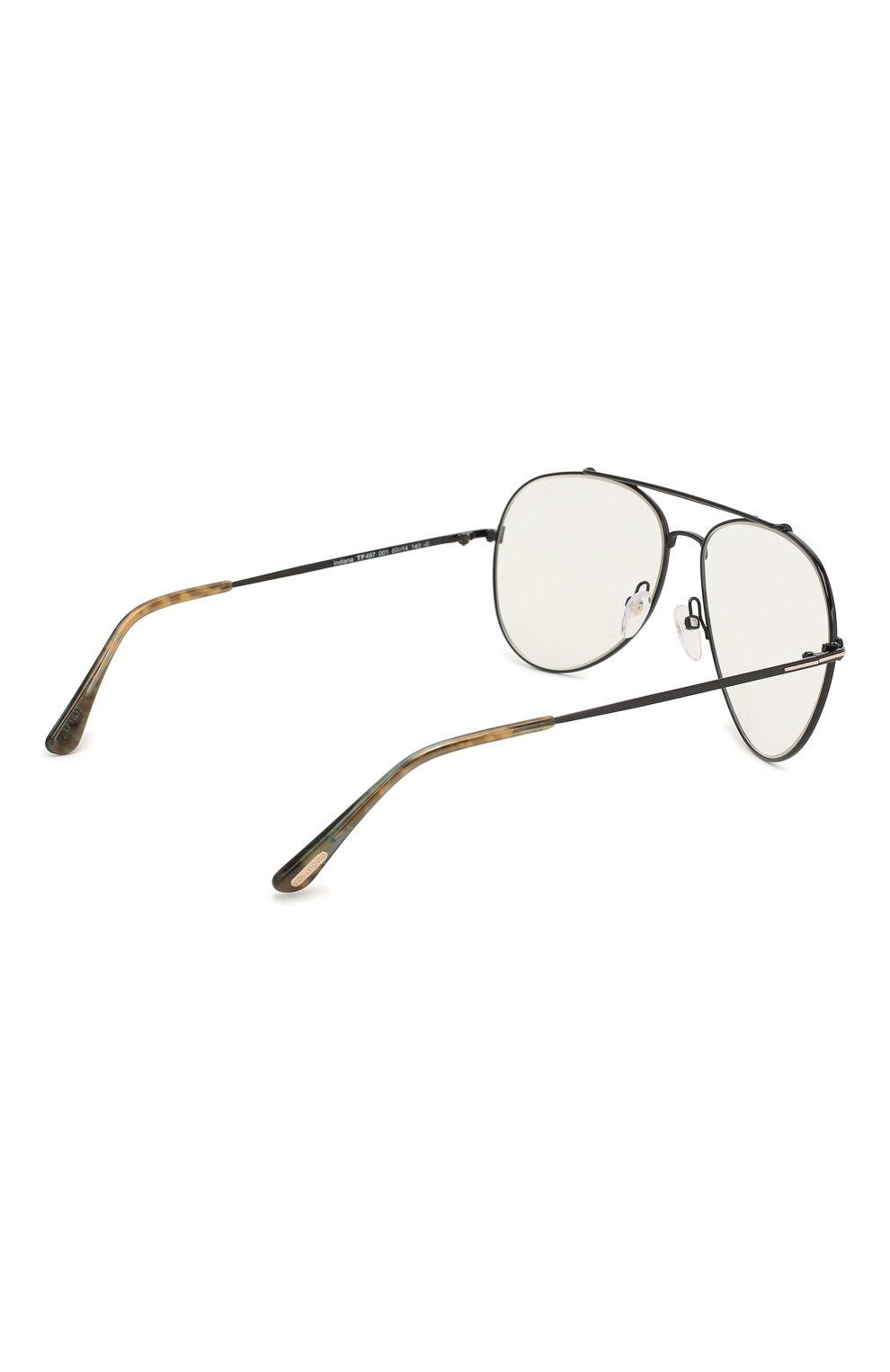 Женские солнцезащитные очки TOM FORD черного цвета, арт. TF497 001 | Фото 4