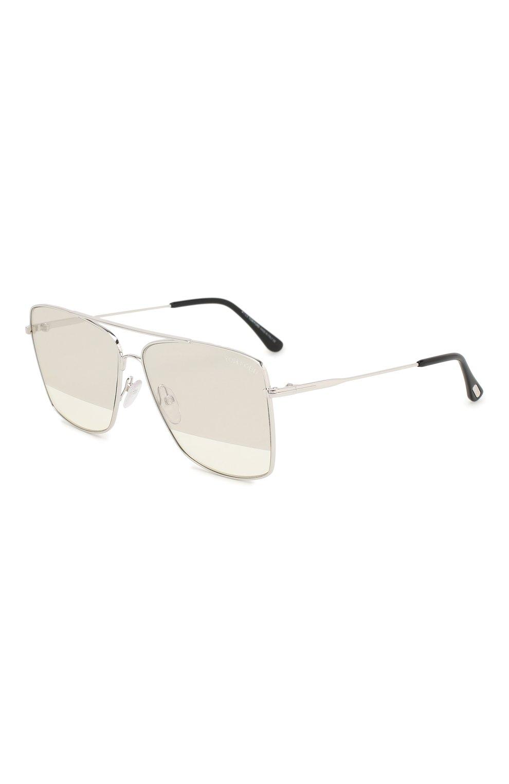 Женские солнцезащитные очки TOM FORD серебряного цвета, арт. TF651 18C | Фото 1