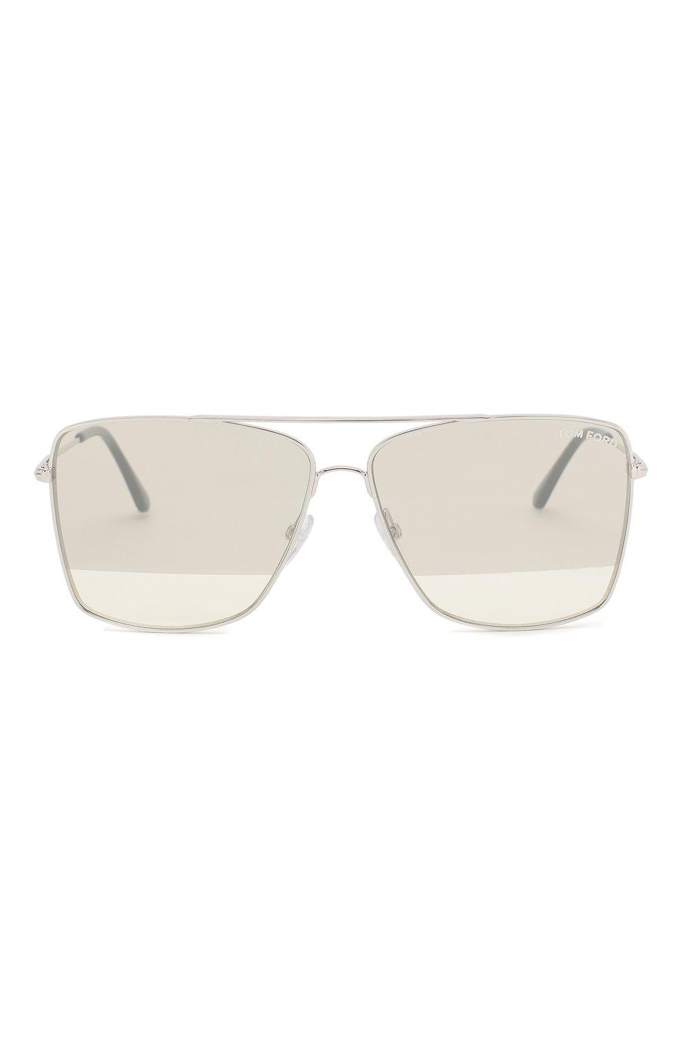 Женские солнцезащитные очки TOM FORD серебряного цвета, арт. TF651 18C | Фото 3