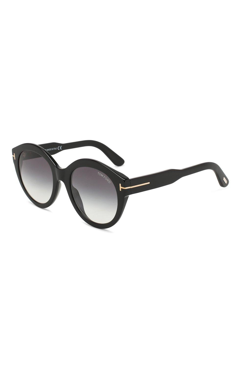 Женские солнцезащитные очки TOM FORD черного цвета, арт. TF661 01B | Фото 1
