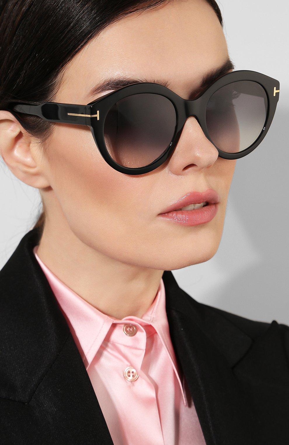 Женские солнцезащитные очки TOM FORD черного цвета, арт. TF661 01B | Фото 2