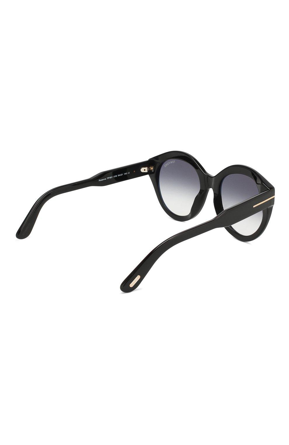 Женские солнцезащитные очки TOM FORD черного цвета, арт. TF661 01B | Фото 4