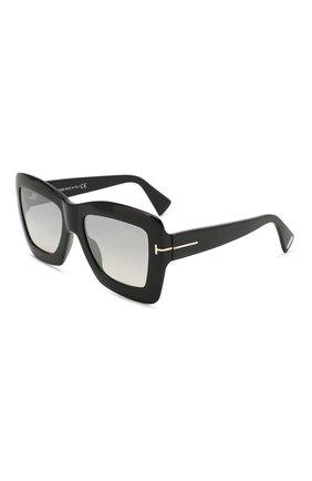 Женские солнцезащитные очки TOM FORD черного цвета, арт. TF664 01C | Фото 1
