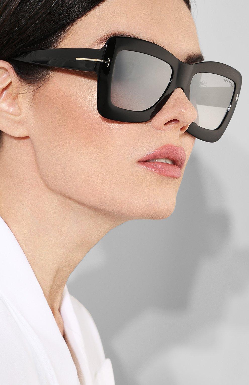 Женские солнцезащитные очки TOM FORD черного цвета, арт. TF664 01C | Фото 2