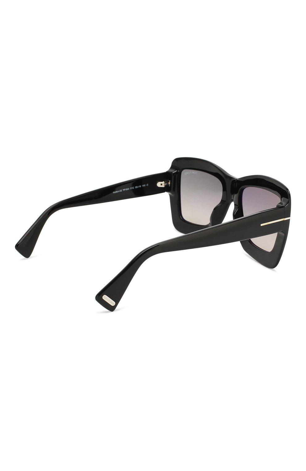 Женские солнцезащитные очки TOM FORD черного цвета, арт. TF664 01C | Фото 4