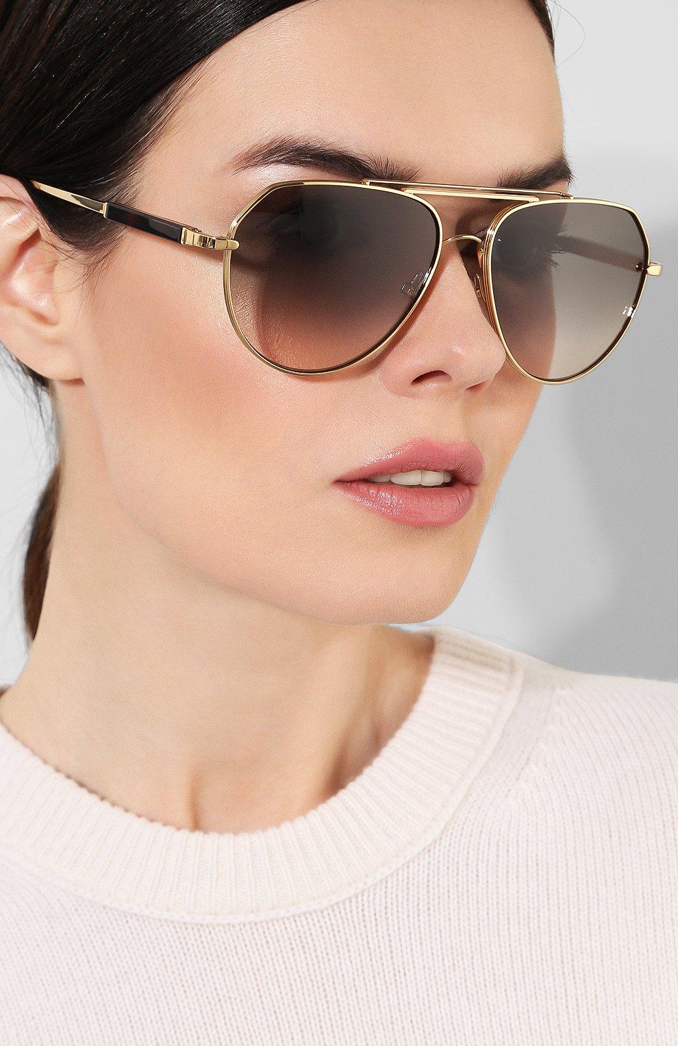 Солнцезащитные очки Tom Ford золотые | Фото №2