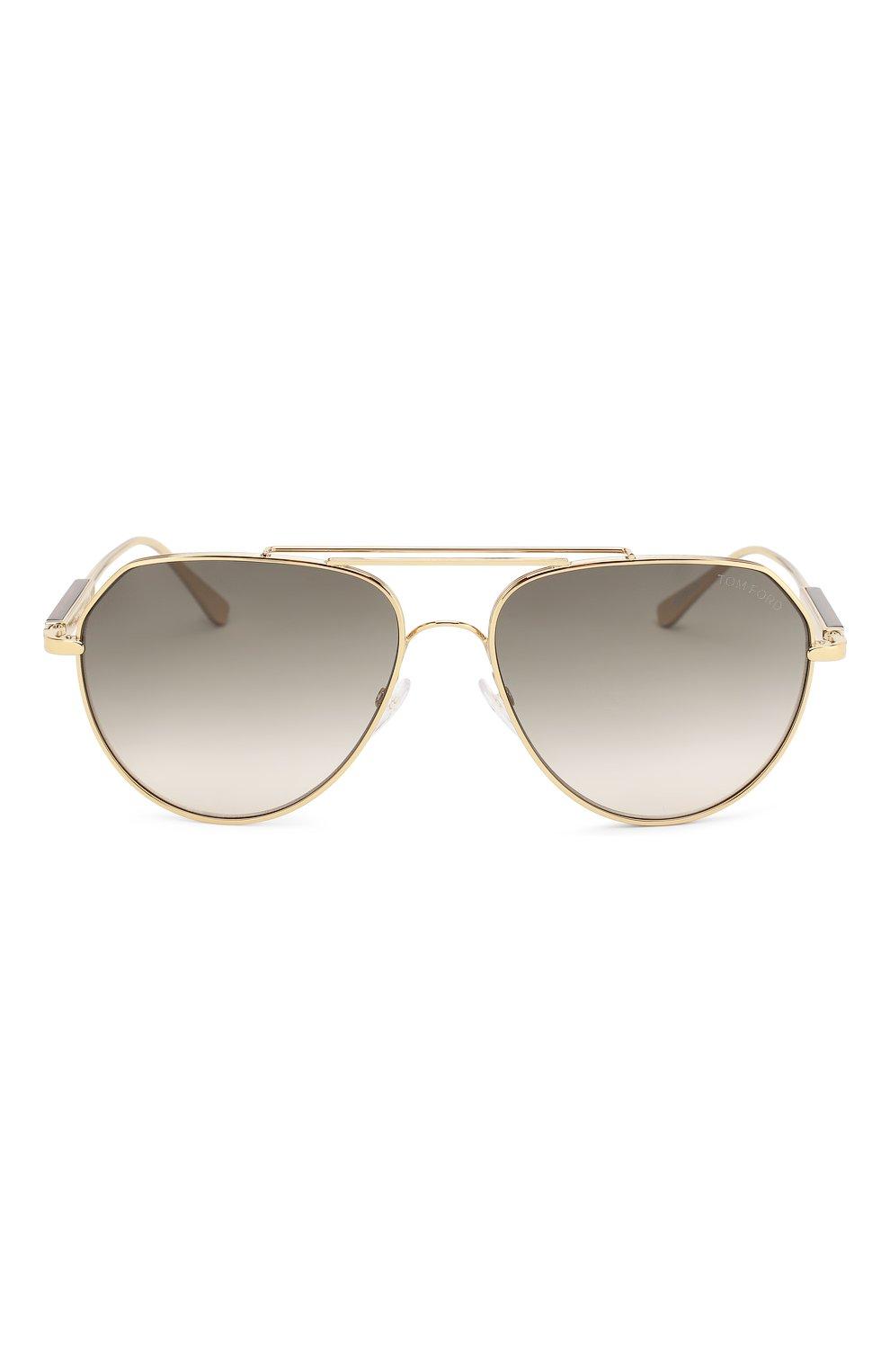 Солнцезащитные очки Tom Ford золотые | Фото №3