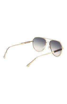 Солнцезащитные очки Tom Ford золотые | Фото №4