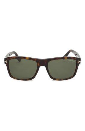 Мужские солнцезащитные очки TOM FORD коричневого цвета, арт. TF678 52N | Фото 2