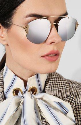 Женские солнцезащитные очки DIOR серебряного цвета, арт. DI0RSTR0NGER 000 DC | Фото 2