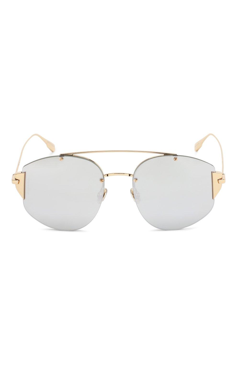 Женские солнцезащитные очки DIOR серебряного цвета, арт. DI0RSTR0NGER 000 DC | Фото 3