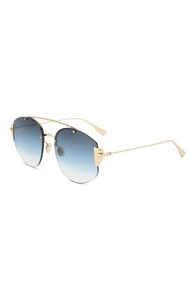Женские солнцезащитные очки DIOR синего цвета, арт. DI0RSTR0NGER 000 NE | Фото 1