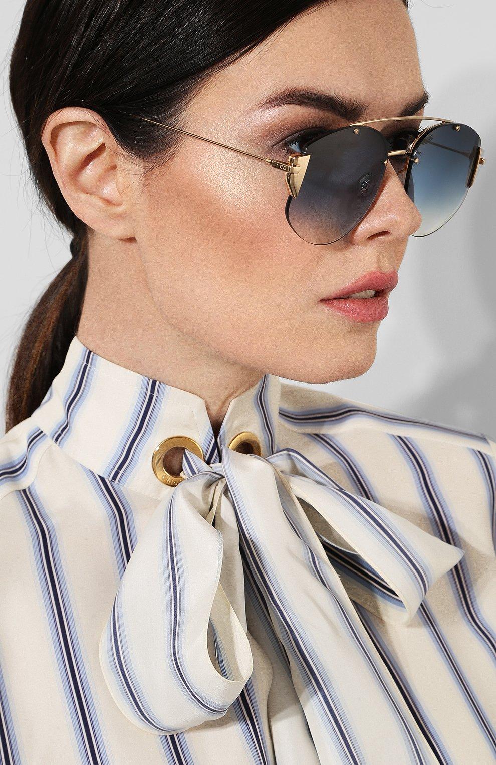 Женские солнцезащитные очки DIOR синего цвета, арт. DI0RSTR0NGER 000 NE | Фото 2