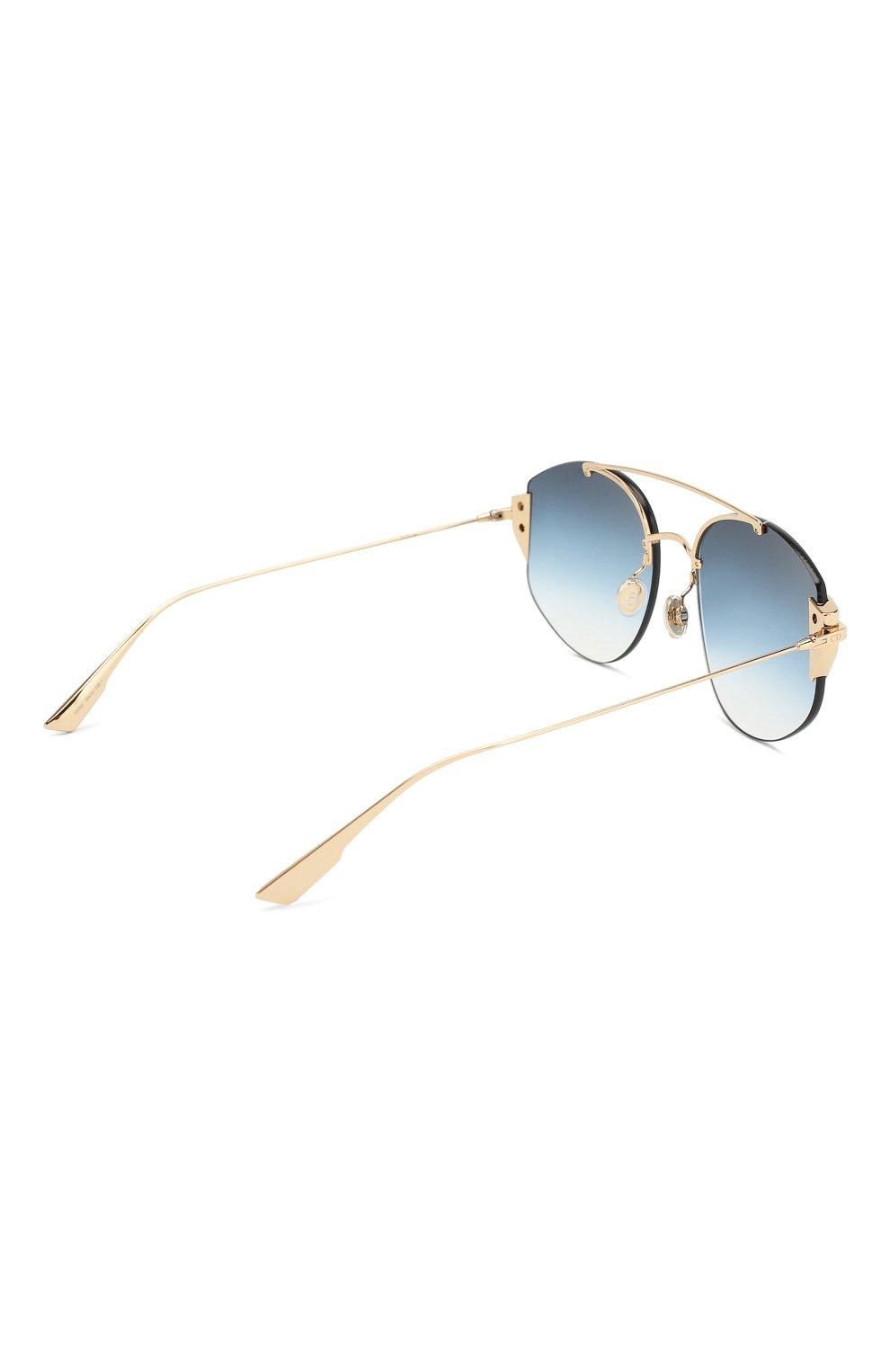 Женские солнцезащитные очки DIOR синего цвета, арт. DI0RSTR0NGER 000 NE | Фото 4
