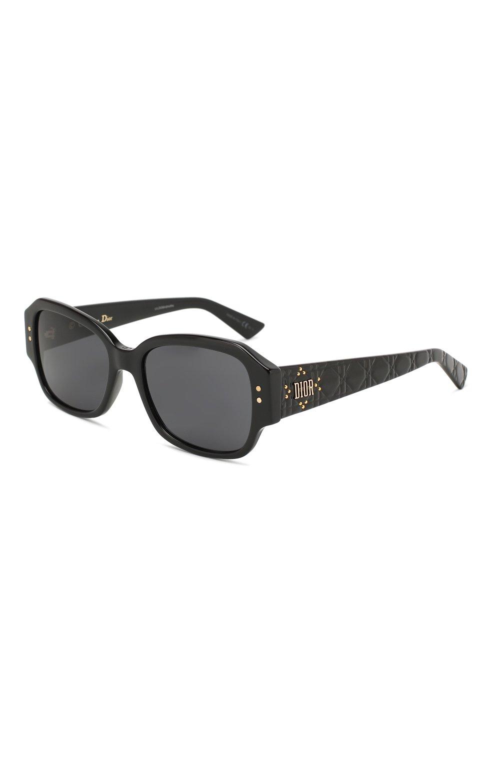 Женские солнцезащитные очки DIOR черного цвета, арт. LADYDI0RSTUDS5 807 | Фото 1