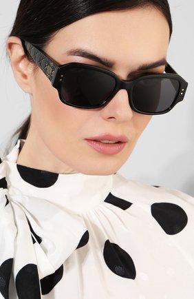 Женские солнцезащитные очки DIOR черного цвета, арт. LADYDI0RSTUDS5 807 | Фото 2