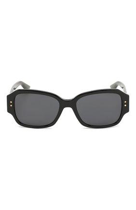 Женские солнцезащитные очки DIOR черного цвета, арт. LADYDI0RSTUDS5 807 | Фото 3