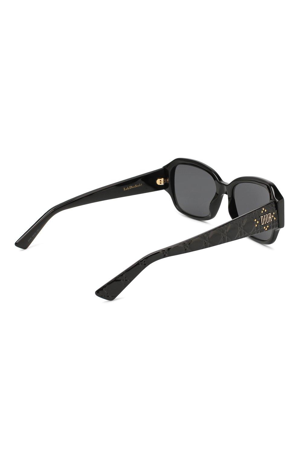 Женские солнцезащитные очки DIOR черного цвета, арт. LADYDI0RSTUDS5 807 | Фото 4