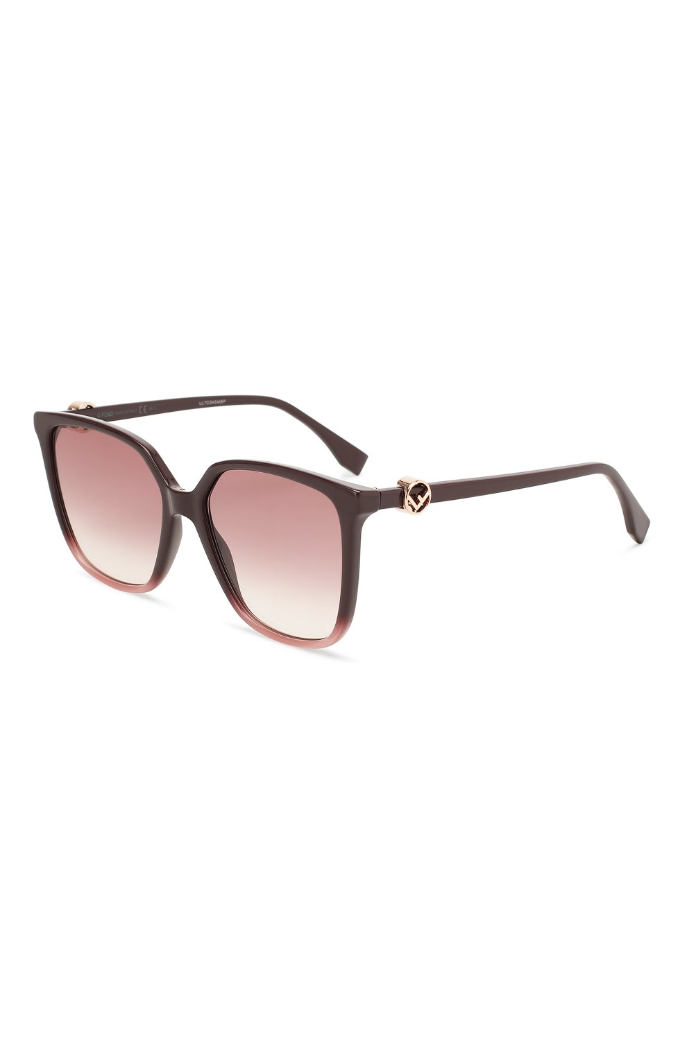 Женские солнцезащитные очки FENDI фиолетового цвета, арт. 0318 8CQ   Фото 1