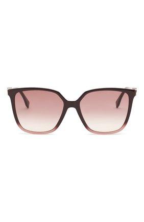 Женские солнцезащитные очки FENDI фиолетового цвета, арт. 0318 8CQ   Фото 3