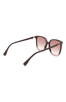 Женские солнцезащитные очки FENDI фиолетового цвета, арт. 0318 8CQ   Фото 4