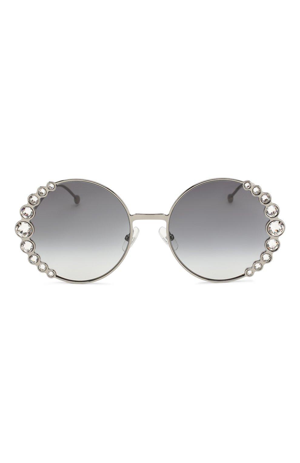 Солнцезащитные очки Fendi серебряные | Фото №3